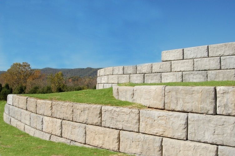Precast Concrete Retaining Wall Blocks : Pre cast concrete products r deso inc ready mixed